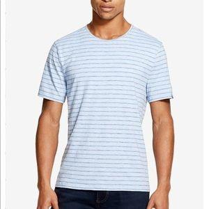 Men's mercerized striped t-shirt